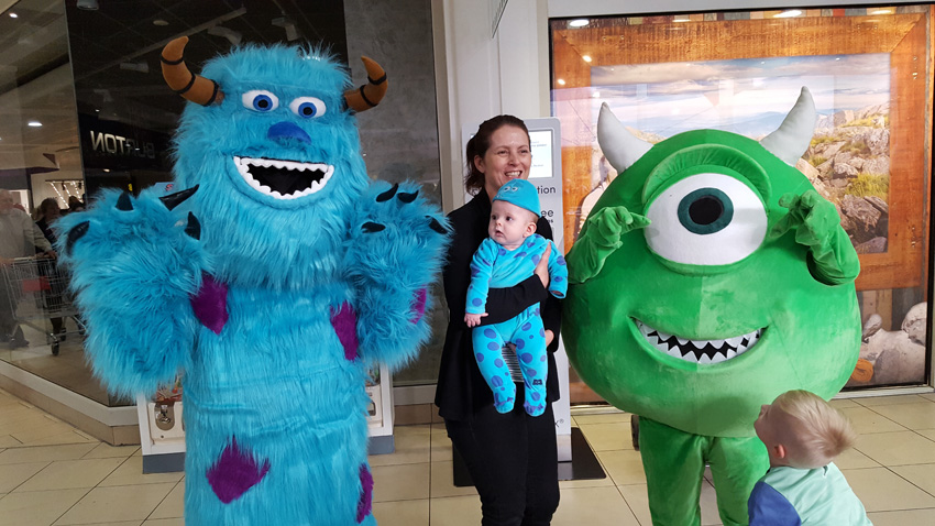 Halloween entertainment meet monsters inc.