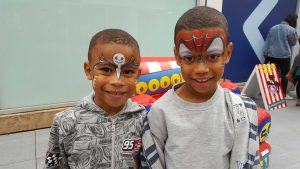 Children with face paint