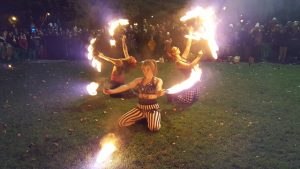 Fire performers at an event